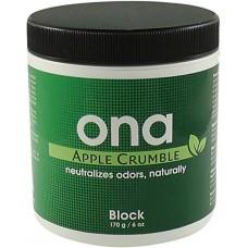 Нейтрализатор запаха ONA Block Apple Crumble 170гр